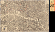 France and Paris Map By Georges Peltier