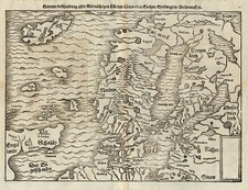 Europe, Baltic Countries, Scandinavia, Iceland and Balearic Islands Map By Sebastian Münster