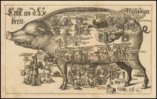 Comic & Anthropomorphic Map By Johannes Buno