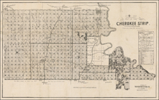 Plains, Oklahoma & Indian Territory and Southwest Map By Western Lithographing Co.