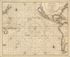 Pacific, Australia, New Zealand and California as an Island Map By Pieter Mortier