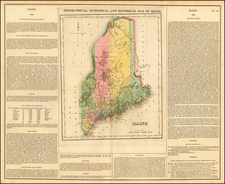 Geographical, Historical and Statistical Map of Maine By Henry Charles Carey  &  Isaac Lea