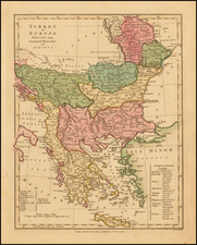 Balkans, Greece, Turkey and Mediterranean Map By Robert Wilkinson
