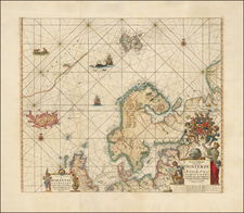 Atlantic Ocean, Russia, Baltic Countries, Scandinavia and Iceland Map By Johannes Van Keulen