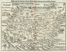 Europe, Germany, Poland and Czech Republic & Slovakia Map By Sebastian Münster