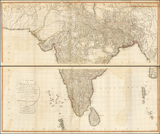 India Map By Laurie & Whittle / James Rennell