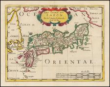 Japan and Korea Map By Nicolas Sanson