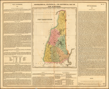 New England and New Hampshire Map By Henry Charles Carey  &  Isaac Lea