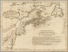 United States, New England, Canada and Eastern Canada Map By J Schreuder