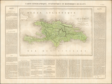 Caribbean and Hispaniola Map By Jean Alexandre Buchon