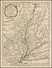 New York State Map By London Magazine