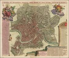 Rome Map By Jacob de la Feuille