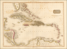 Florida, Caribbean and Central America Map By John Pinkerton