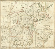 United States, Mid-Atlantic, Southeast and Midwest Map By John Stockdale