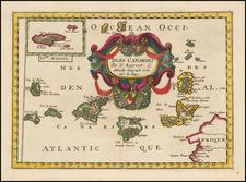 African Islands, including Madagascar Map By Nicolas Sanson