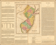 Geographical, Historical and Statistical Map of New Jersey By Henry Charles Carey  &  Isaac Lea