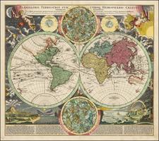 World and World Map By Johann Baptist Homann