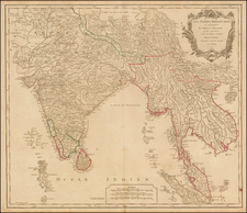 India & Sri Lanka and Southeast Asia Map By Gilles Robert de Vaugondy