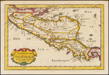 Central America Map By Nicolas Sanson