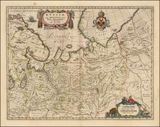 Russia Map By Johannes et Cornelis Blaeu