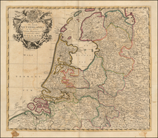 Netherlands Map By John Senex