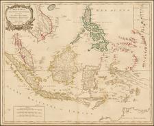 Archipel Des Indes Orientales, qui comprend Les Isles De La Sonde, Moluques et Philippines, tirees des Cartes du Neptune Oriental . . .  1750 By Didier Robert de Vaugondy