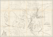 Sketch of the Public Surveys In New Mexico 1861. [Includes Arizona before it became a territory.] By U.S. General Land Office