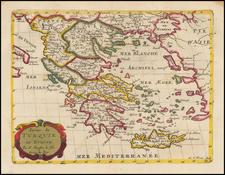 Greece and Turkey Map By Nicolas Sanson