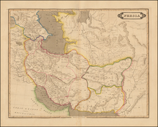 Central Asia & Caucasus and Middle East Map By Daniel Lizars