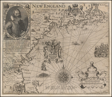 New England Map By John Smith