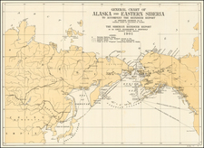 Alaska and Russia in Asia Map By United States GPO