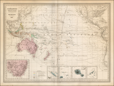 Philippines, Australia & Oceania, Pacific and Oceania Map By Adolphe Hippolyte Dufour