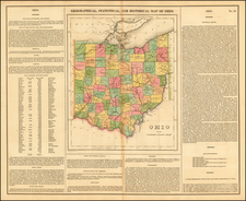 Ohio Map By Henry Charles Carey  &  Isaac Lea