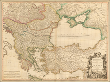 Russia, Ukraine, Balkans, Greece, Turkey and Turkey & Asia Minor Map By William Faden