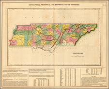 Tennessee Map By Henry Charles Carey  &  Isaac Lea