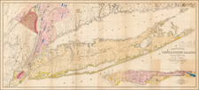 New York City and New York State Map By William W. Mather