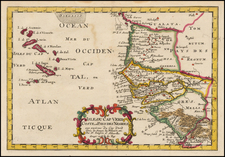 West Africa and African Islands, including Madagascar Map By Nicolas Sanson