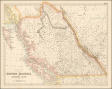 Pacific Northwest and Canada Map By Archibald Fullarton & Co.