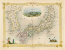 Japan and Korea Map By John Tallis