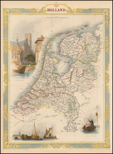 Netherlands Map By John Tallis