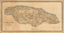 Caribbean and Jamaica Map By James Wyld