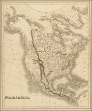 North America Map By Hinton, Simpkin & Marshall