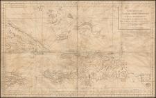 Cuba, Hispaniola, Puerto Rico and Bahamas Map By Depot de la Marine