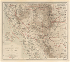 Plains, Southwest, Rocky Mountains, Mexico, Baja California and California Map By Royal Geographical Society