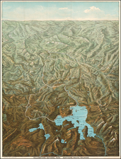 Rocky Mountains Map By Charles S. Fee