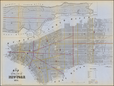 New York and New York City Map By Valentine's Manual