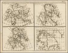 Carte qui represente les differentes connoissances que L'on a eues des Terres Arctiques depuis 1650 jusqu'en 1747 . . . 1773 By Denis Diderot  &  Didier Robert de Vaugondy