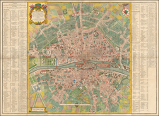Paris Map By D. Michel Felibien / D. G. Alexis Lobineau