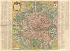 Paris Map By D. Michel Felibien / D. G. Alexis Lobineau