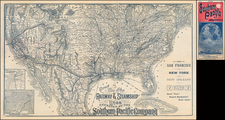 United States Map By H.S. Crocker & Co.